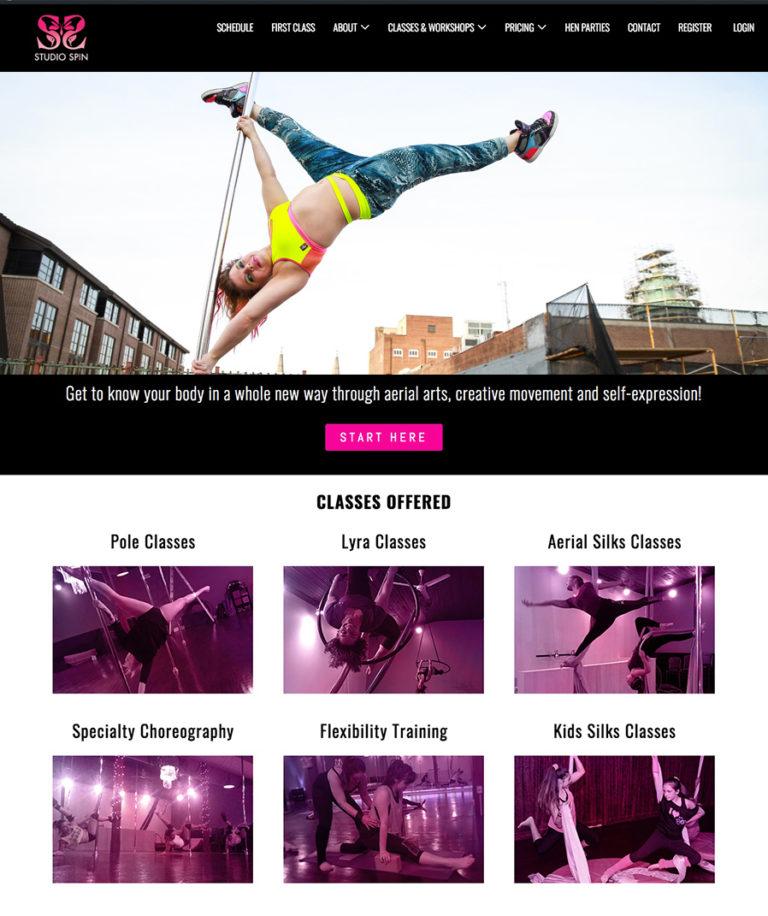 Studio Spin website