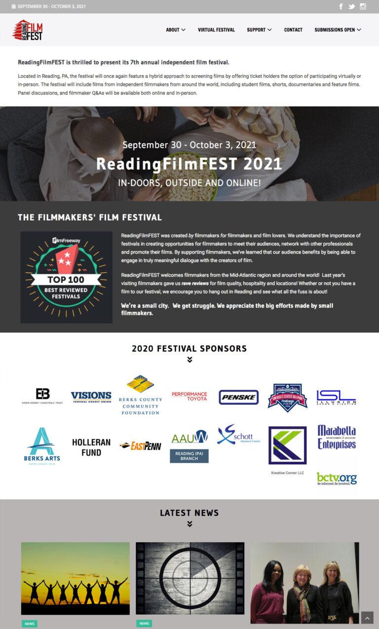 Reading Film Fest website